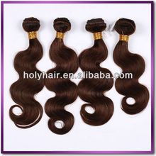 Health and beauty Tangle free premium chocolate bohemian honey brown weave