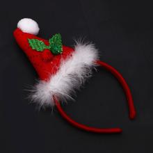 2015 fancy cute red traditional santa hats Christmas hair accessories headband