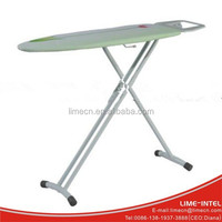 Hotel use adjustable 3 legs net top adjustable ironing boards