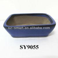 "5"" glazed mica bonsai pots"