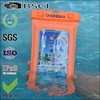 unique pvc plastic inflated waterproof bag for samsung galaxy s4 mini with armband