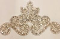 2015 new bridal wedding dress decoration, rhinestone applique for bridal's wedding dress