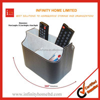 Wholesale Leather Spinning TV Remote Control Holder Stand