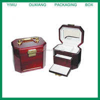 High quality antique wooden jewelry box with handle