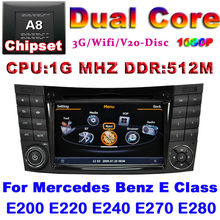 Car DVD for Mercedes Benz E Class W211 E200 E220 E240 E270 E280 with GPS radio USB 3G wifi S100 support DVR audio video player