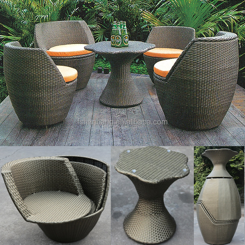 Factory outlet outdoor rattan resin wicker patio garden furniture 3 5 pieces table chairs set - Garden furniture clearance ...