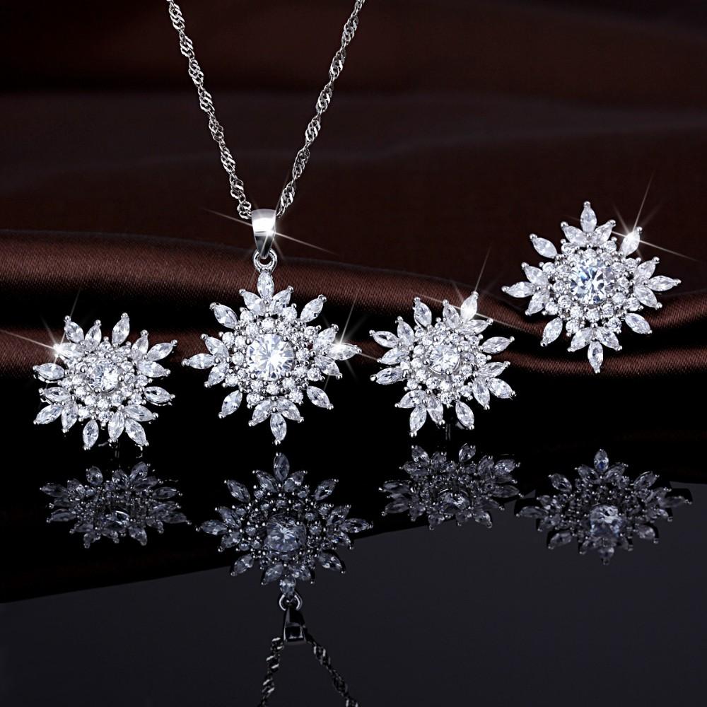 luxury 925 sterling silver jewellery dubai gold plated clear zircon