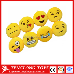 custom Emoji Key Chain Strap different emoticon plush emoji Keychain