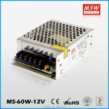 MS-60-12 High efficiency regulated mini smps 60w ac to dc power supply 12v 5a