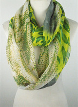 latest snake and leopard print infinity loop scarf for women voile loop scarf PG1200