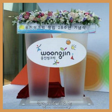 superior quality clear acrylic lectern podium double for two people