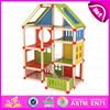 2015 Beartiful princess diy kids wooden doll house,Pretend Play Toy Child Wooden Doll House,Fashion diy wooden toy house W06A108