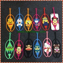 Universal Cartoon Silicon bumper lanyard case with all phones under 6 inch