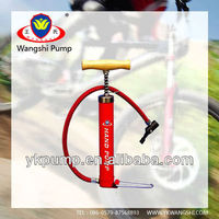 Multi-functional bicyclhigh quality strong wood hand air pump for bicycle and bike e pump with a variety color