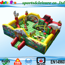 attractive car inflatable playground, racing car amusement park, giant inflatable fun city