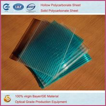 hollow polycarbonate sheet 100% bayer material and UV protection