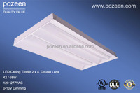 2x4 Recessed LED Troffer Light 2 by 4 68w to replace 3xF32 T8 Fluorescent