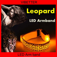 LB-09 Leopard print 2015 New led Armband for sports and warning supplies