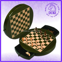 High glossy deluxe outdoor round chess game set