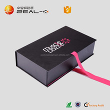 foldable OEM black famous and selling well in Europe area pink color inside folding garment suit boxes