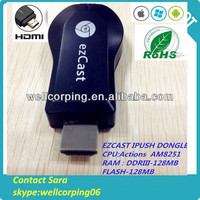 Wifi ipush Dongle!DLNA HDMI Airplay!Hot sale! High Quality! ipush d2 wireless hdmi adapter dlna / airplay receiver Manufacturer