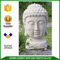 garden buddha head concrete statue molds
