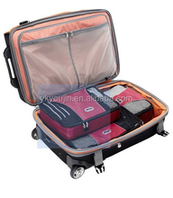 Top quality durable polyester travel bag packing cubes