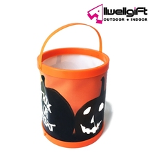 Promotional Lighted Color Changing Halloween Pumpkin Led Lantern Solar Bucket Light