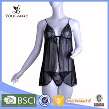 Romatic Polyamide Fibre beautiful sexy lingerie babydoll first night sexy dress