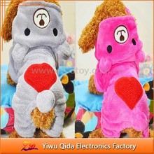 2015 new design velvet gray and pink factory cheap dog clothing