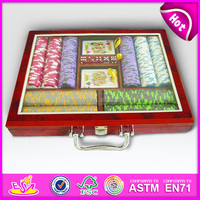 500 Pcs Wooden Poker Chip Sets poker game KT29117