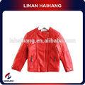 Cuero China fabricante pu chaqueta de cuero