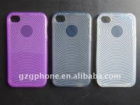 PROTECTIVE TPU case(fingerprint) for new iphone4/4S(TPU material)