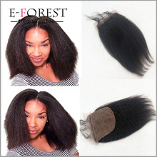 4X4 Indian Hair Silk Base Lace Closure Virgin Human Hair Top Lace Closure Coarse Yaki Straight Free Middle 3 Part Lace Closures