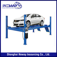 CE certified 9000 lb 4 post vehicle lift