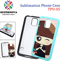 Blank TPU Mobile Phone Case, Dye Sublimation Cellphone Cases for Samsung Glalaxy S5