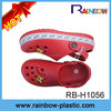 The new style high quality fit kids plastic clogs 2015