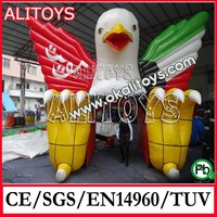 Alitoys 2015 new design inflatable eagle tunnel, inflatable tunnel tent