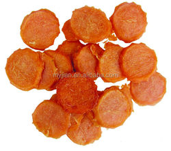 OEM supplier private label super premium quality dry chicken jerky circular chip dog treat