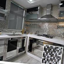 hot sales stainless steel metal mix glass mosaic tile for kitchen backsplash wall tile