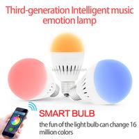 2016 new model!!! 1600k color led light bulb for wifi led mini speaker bluetooth4.0 bulb