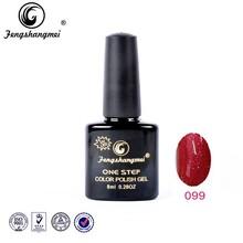 Fengshangmei OEM soak off peel off 3 in 1gel nail polish, peel off 1 step color gel