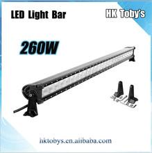 Life span 30000 hours 260w led light bar PC lens led offproad light bar 48.2 inch thin led light bar