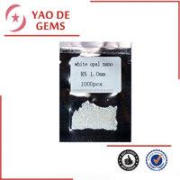 loose precious nano stone, round diamond cut milk white Nano gemstone