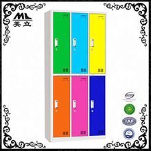 Hoting selling modern colorful 2 tier ikea steel locker with 6 doors