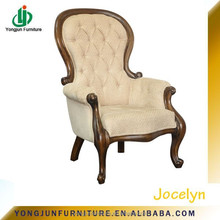 YJ-21471Vintage Button Tufted Upholstered Leather Sofa Chair