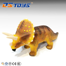 Fashionable Gift Realistic 3D Plastic Dinosaur Toy Triceratops Model Toys