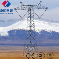 110KV electric power transmission steeltower pole tower