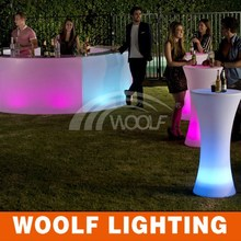 rechargeable led furniture event club outdoor bar table