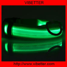 2014 New Products For Pets Cheap Fashion Nylon LED Flashing Pet Dog Collars And Leashes